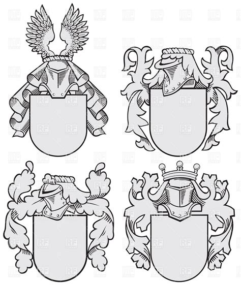 Templates Clipart Heraldic Pencil And In Color Templates Clipart Heraldic Helmet Shield Template