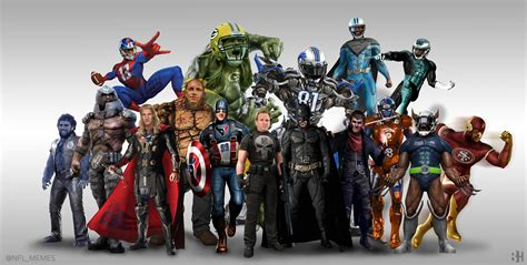 Super Hero Meme - nfl stars as super heroes daily snark