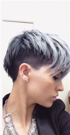 Neckline Trimm Woman Haircut | la moda en tu cabello cortes de pelo corto undercut mujer