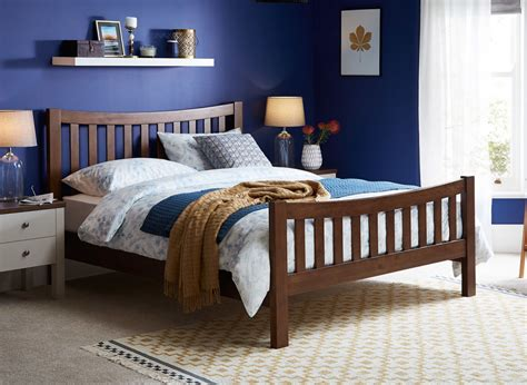 Bed Frames Wood by Sherwood Walnut Wooden Bed Frame Dreams