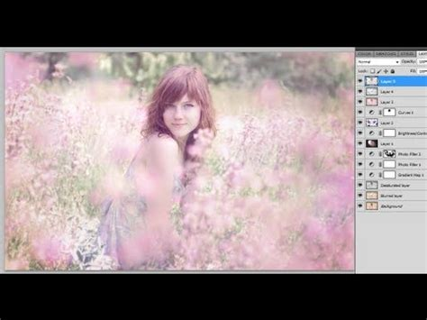 photoshop cs5 tutorial glowing lights effect photoshop cs5 how to add a soft dreamy glow effect to