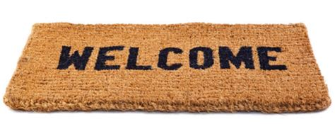 Welcome Mat Welcome To Scents Clear Candles