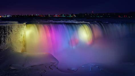 A Frozen Niagara Falls Light Show Looks Like A Magical Lights Niagara Falls