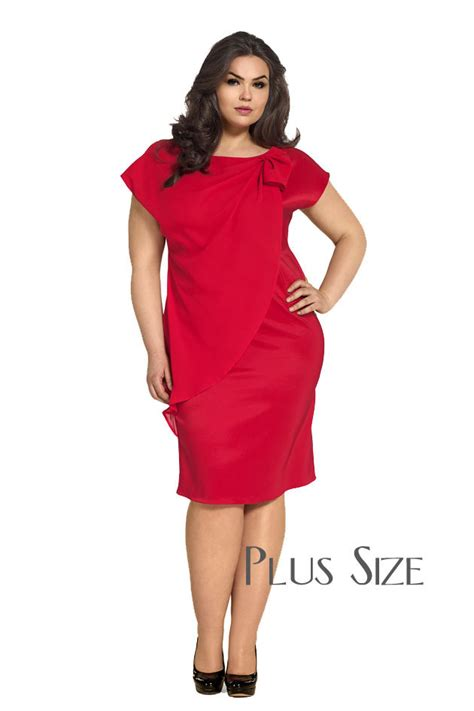 Rot Plus by Victoriav Cocktailkleid Mit Chiffon Rot Plus Size