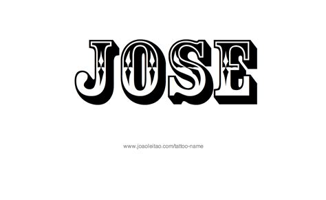 jose tattoos designs jose name designs