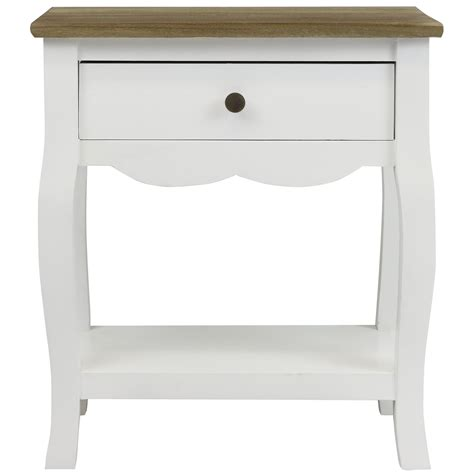 distressed white bedside table hartleys white distressed wood top bedside table