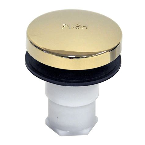 danco touch toe bathtub drain stopper polished brass
