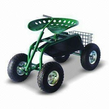 Rolling Garden Work Seat by Rolling Garden Tractor Scoot Work Seat On Wheels With