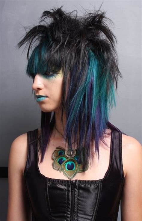collection of funky medium length hairstyles for