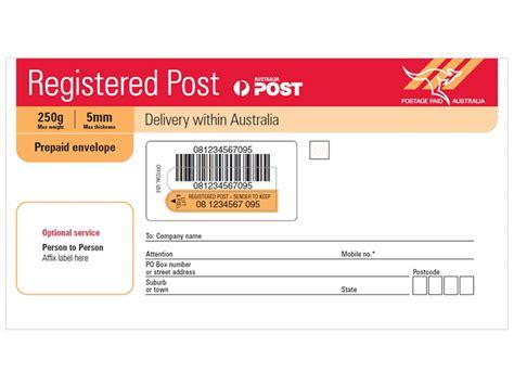 Aus Post Racking by Registered Post Dl Prepaid Envelope Pack Of 10