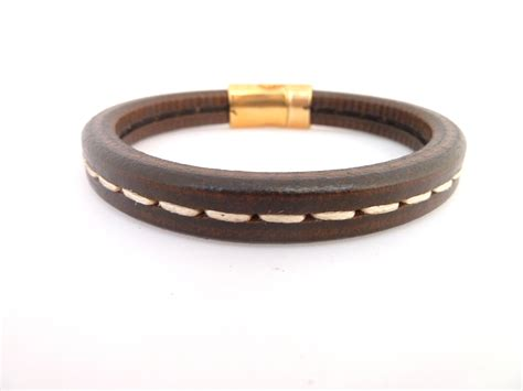 unisex leather bracelet brown leather bracelet with