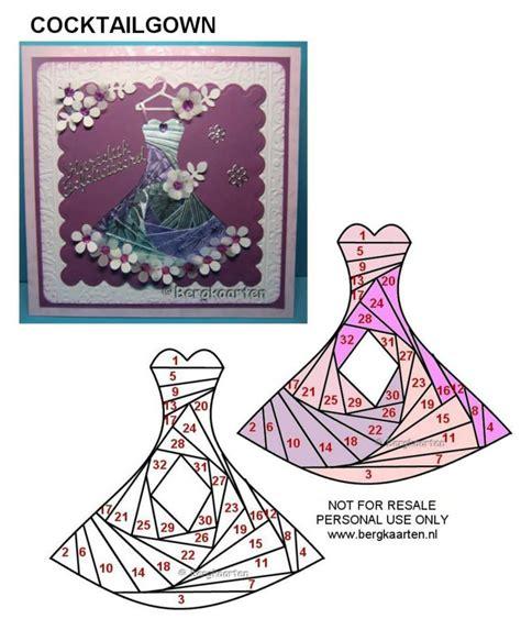 folded dress card template iris folding on iris folding pattern iris