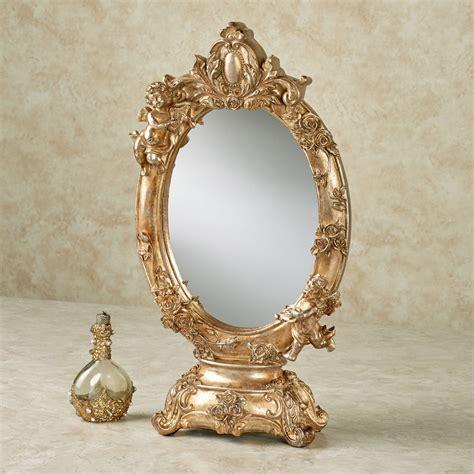 Tabletop Vanity Mirror by Aurelie Cherub Tabletop Vanity Mirror