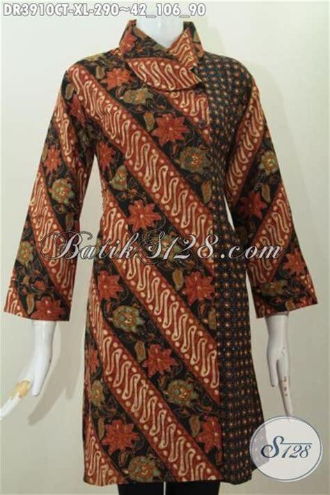 Baju Batik Parang Brown baju batik parang bunga klasik desain mewah proses cap tulis busana wanita terbaru buat kerja