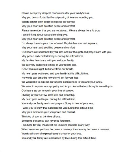comfort word to pdf short condolence letter exles docoments ojazlink
