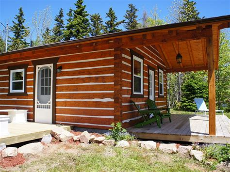 D Log Cabin by Modern Log Cabin On The Bras D Or Lakes Homeaway Bras