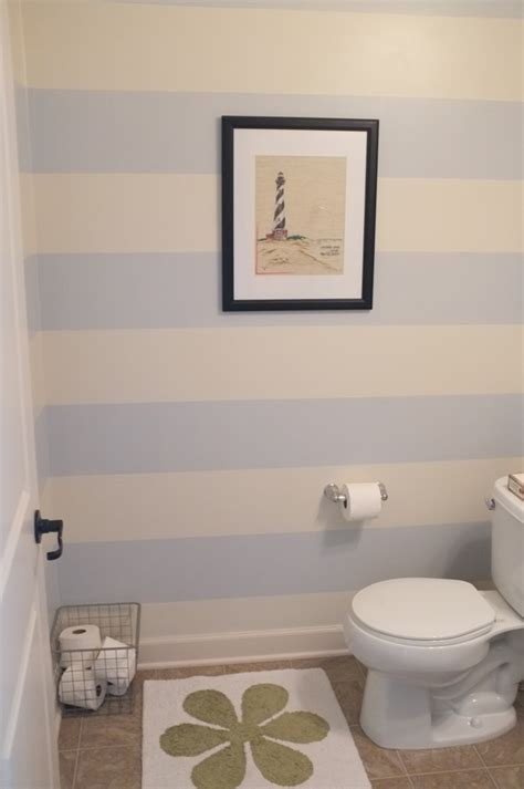 striped bathrooms striped walls in a small half bathroom teal and lime by