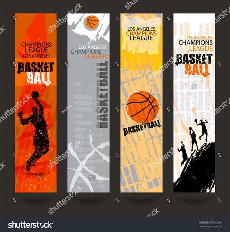 Set Banners Basketball Sports Templates Grunge Stock Vector 576703291 Shutterstock Sports Banner Templates
