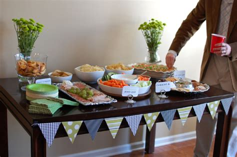 baby table food greeny baby shower the delivery the artful abode