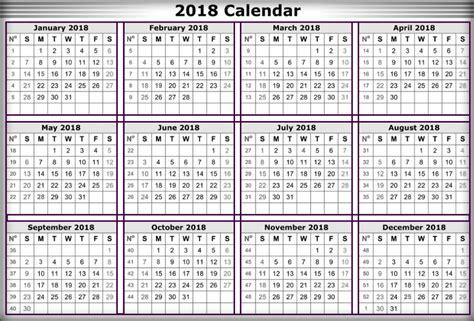 2018 Printable Calendar With Holidays Free