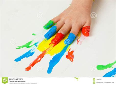 finger color child with finger paints colors stock photo image 22505926