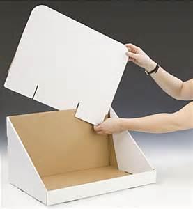 oversize cardboard countertop bin 22 5 quot h white counter