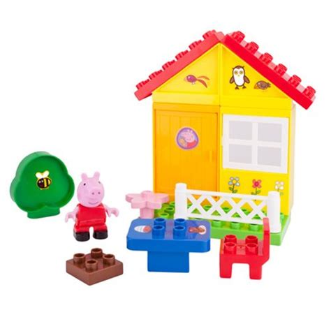 Peppa Pig House Playset by Peppa Pig Peppa S Garden House Construction Playset Jazwares Peppa Pig Construction Toys