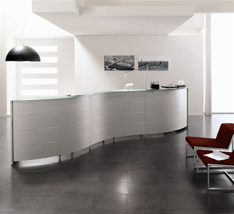 Wall Desk Designs Custom Office Desk Designs Create Curved Reception Desk