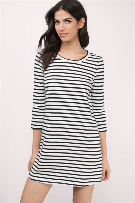 Striped Dress black white day dress black dress striped dress