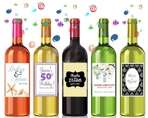 wine bottle labels personalized with your information