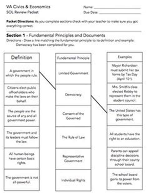 Seven Principles Of Government Worksheet Answers by Documents And Government Bingo Va Studies 6a 6b 10a