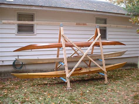 canoe rack for boat a simple a frame kayak storage rack briannystrom