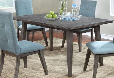 gray rectangle dining table porter gray 60 quot rectangle dining table from