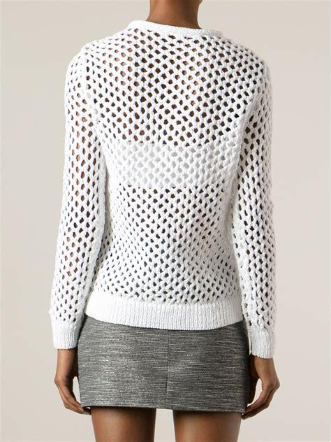 white open knit sweater t by wang open knit sweater in white lyst