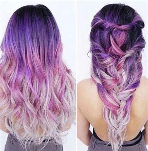 colorful ombre hair de la fantaisie avec les cheveux violets le lab montpellier