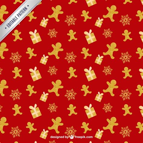 christmas pattern gold christmas pattern in gold and red tones vector free download