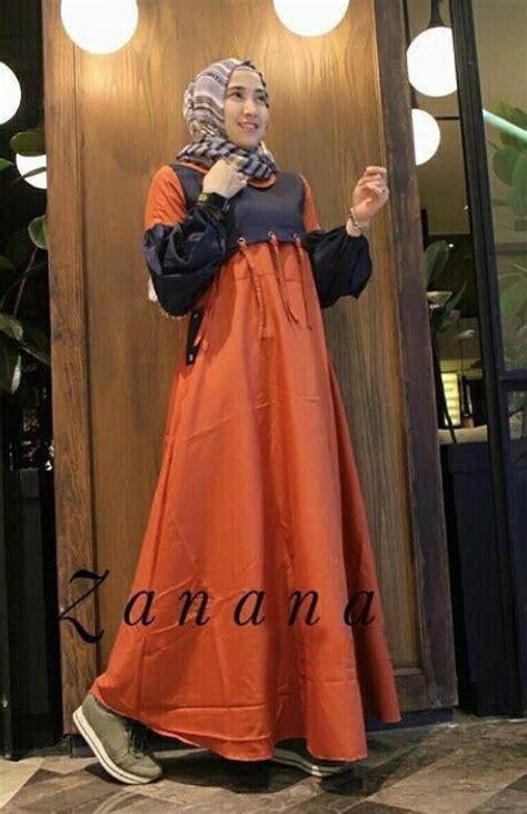 Kebayaabaya Maxi Set Rok Knf 3 gamis remaja modis zanana maxi baju muslim modern