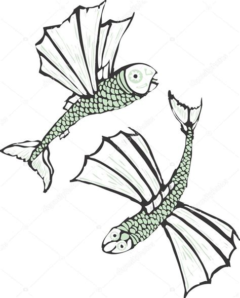 flying fish coloring coloring pages