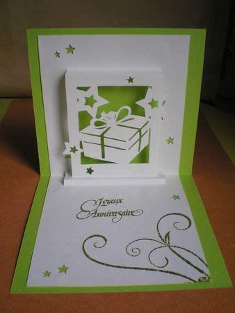 Carte Origami - carte no 235 l anniversaire en kirigami cards