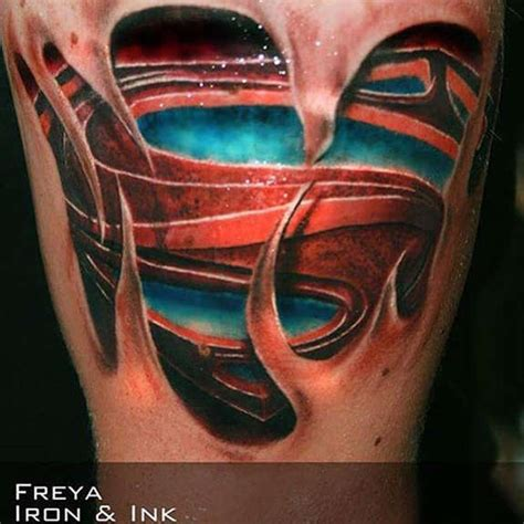 27 awesome superman tattoos designs