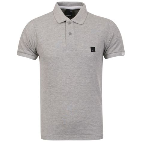 bench polo shirts bench men s resting polo shirt grey marl clothing