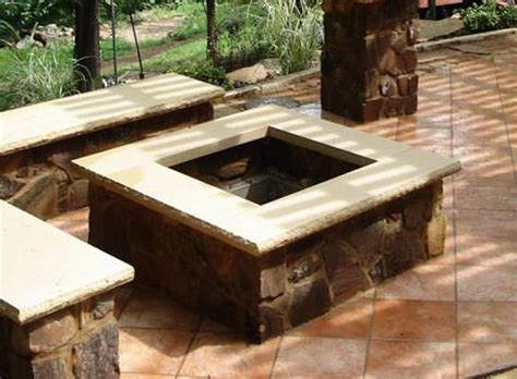 Square Firepit Square Pit Plans Pit Design Ideas
