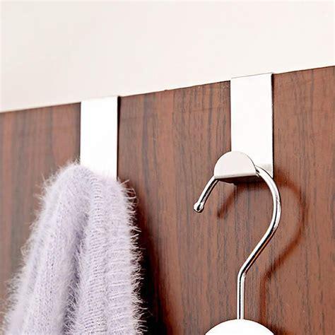 Stainless Steel Hook 4pcs Gantungan Bentuk S Hanger Holder 4pcs stainless steel door hook clothes bag towel hanger holder pothook home kitchen