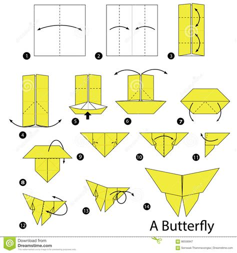 How To Make Origami Butterfly Step By Step With Pictures - step by step how to make origami a butterfly