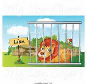 Zoo Cage Clipart Black And White Royalty Free Stock Lion Designs Of