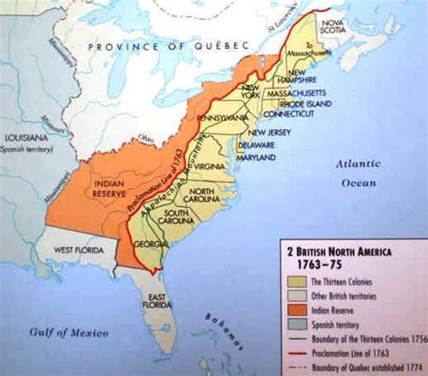 After America after 1763 although the claimed a large portion