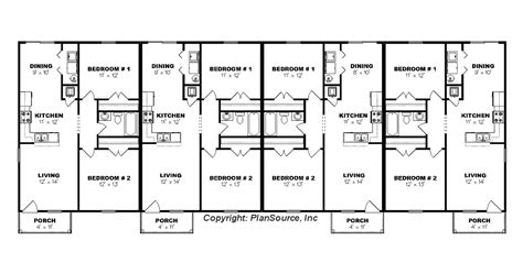 4 plex apartment floor plans fourplex plan j0605 14 4