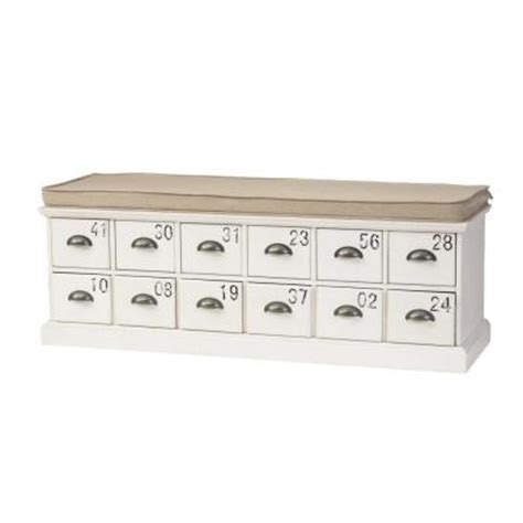 antique white storage bench home decorators collection corollary 12 drawers antique white shoe storage bench