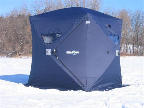portable ice house killzone igloo xl portable ice fishing house ice shelter hub style shanty ebay
