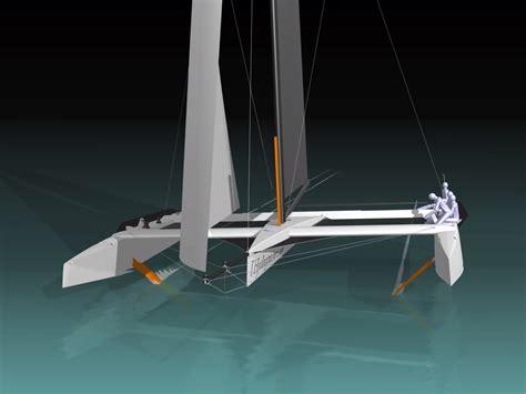 trimaran hydroptere hydropt 232 re tpe foils hydrofoils cavitation portance aile ven